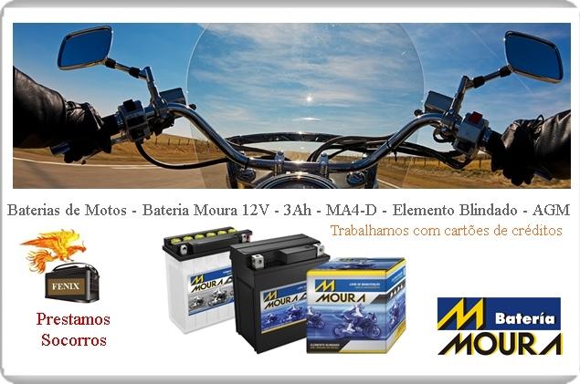 Fênix Baterias Moura para Motos